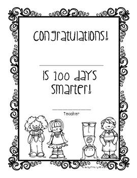 100th Day Certificate Freebie