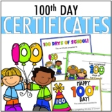 100th Day Certificates EDITABLE