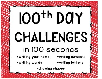 100th Day Challenges