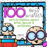 100th Day Editable Class Party Set