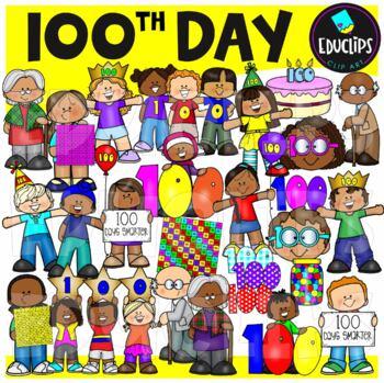 100th Day Clip Art Bundle {Educlips Clipart}