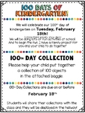 100th Day of School Collection FREEBIE with Editable dates