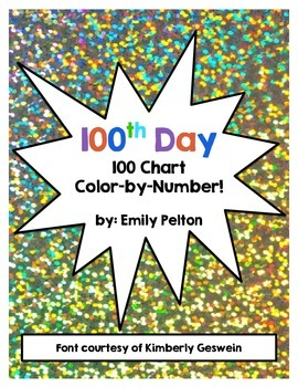 100th Day Color-by-Number 100 Chart!