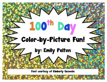 100th Day Color-by-Picture Fun!