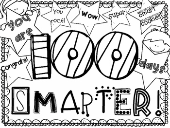 100th day coloring pages 100th Day Coloring Page ~ FREEBIE! by Nicole Richardson | TpT 100th day coloring pages