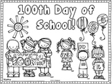 100th Day Coloring Page~ Freebie