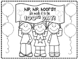 100th Day Coloring Sheet