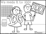 100th Day Coloring Activities Freebie By More Than Math By Mo Tpt 100th Day Of School Coloring Pages