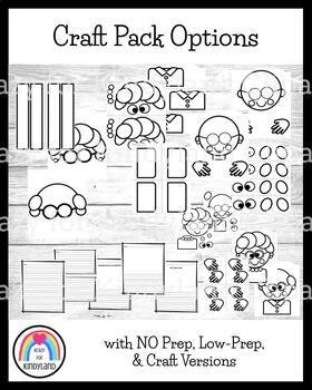 100th Day Craft, Writing, and Math Bundle: 100 Years, Gumball Machine, Kids, Hat