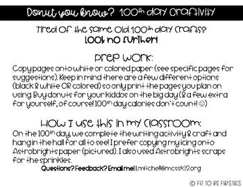 100th Day Craftivity