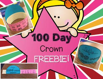 100th Day Crown - FREEBIE!