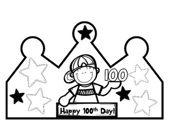 100th Day Crown and Certificates