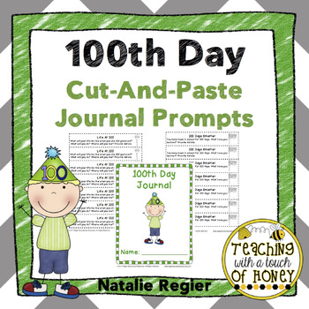 100th Day Cut-And-Paste Journal Prompts