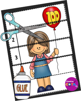100th Day Differentiated Activities and Worksheets