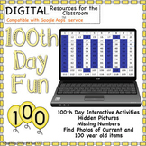 100th Day Activities Interactive Printable Google Digital Math Social Studies