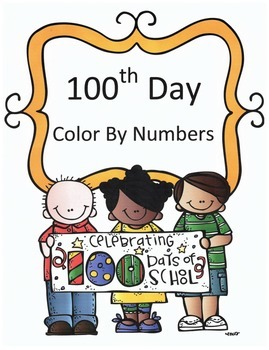 100th Day Math Division Color By Numbers