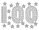 100th Day Dot Picture