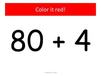 100th Day Expanded Notation - Watch, Think, Color Mystery Pictures