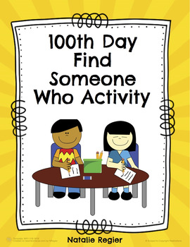 100th Day Find Someone Who Activity