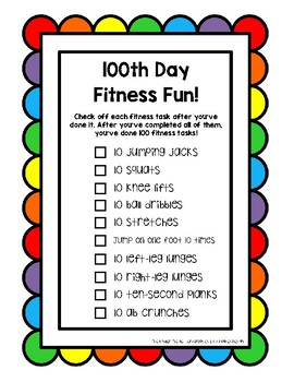100th Day Fitness Fun