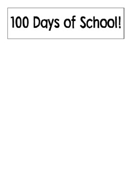 100th Day Flip Book