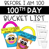 100th Day of School Flip Book [Before I am 100 Bucket List]