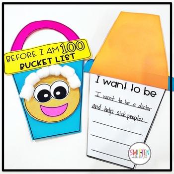 100th Day of School Activities | Before I am 100 Bucket List Flip Book
