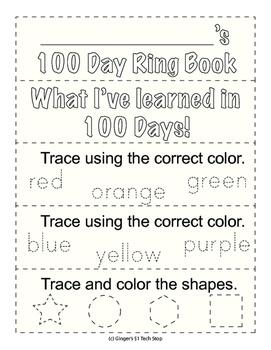100th Day Ring Book * Fun Stuff