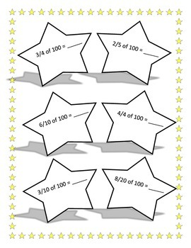 100th Day Fractions