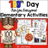 100th Day of School Elementary Grade Activities