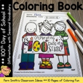 100th Day of School Coloring Pages Differentiated Seasonal Vocabulary One Dollar