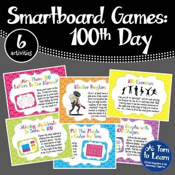 100th Day Games for the Smartboard or Promethean Board  -