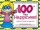 100th Day of School Happiness - Writing, Printables, and Craftivity!