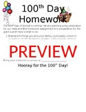 100th Day Homework Letter