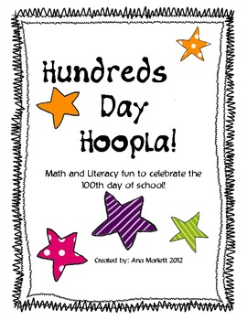 100th Day Hoopla: Math and Literacy Printable Activities for the 100th Day