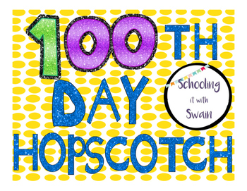 100th Day GLITTER Hopscotch