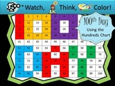 100th Day Hundreds Chart Fun - Watch, Think, Color Mystery