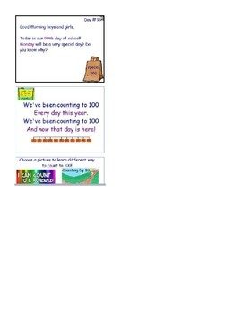 100th Day Activinspire Interactive Whiteboard
