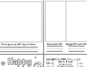 100th Day Kindergarten Packet