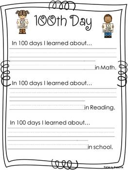 100th Day Literacy, Math, and FUN