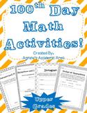 100th Day Math Activities- Upper Grades
