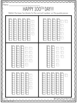 100th Day Math Puzzles!