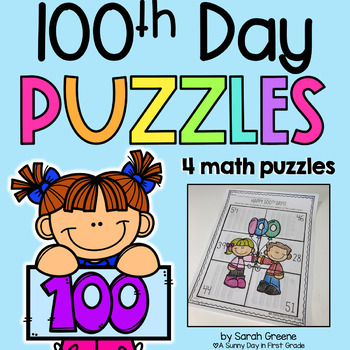 100th Day of School Math Puzzles!
