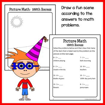 100th Day of School Math Puzzles - 1st Grade Common Core