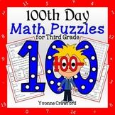 100th Day Math Puzzles - 3rd Grade Common Core