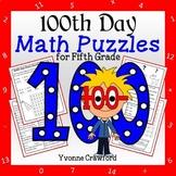 100th Day of School Math Puzzles - 5th Grade Common Core