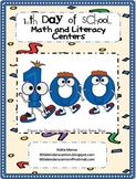 100th Day Math and Literacy Centers