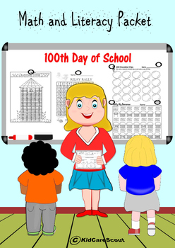 100th Day Math and Literacy Packet