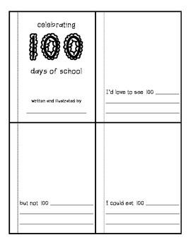 100th Day Mini-Book