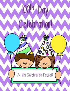 100th Day Mini Celebration Packet!